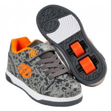 Heelys X2 Dual Up - Grey-Charcoal-Orange